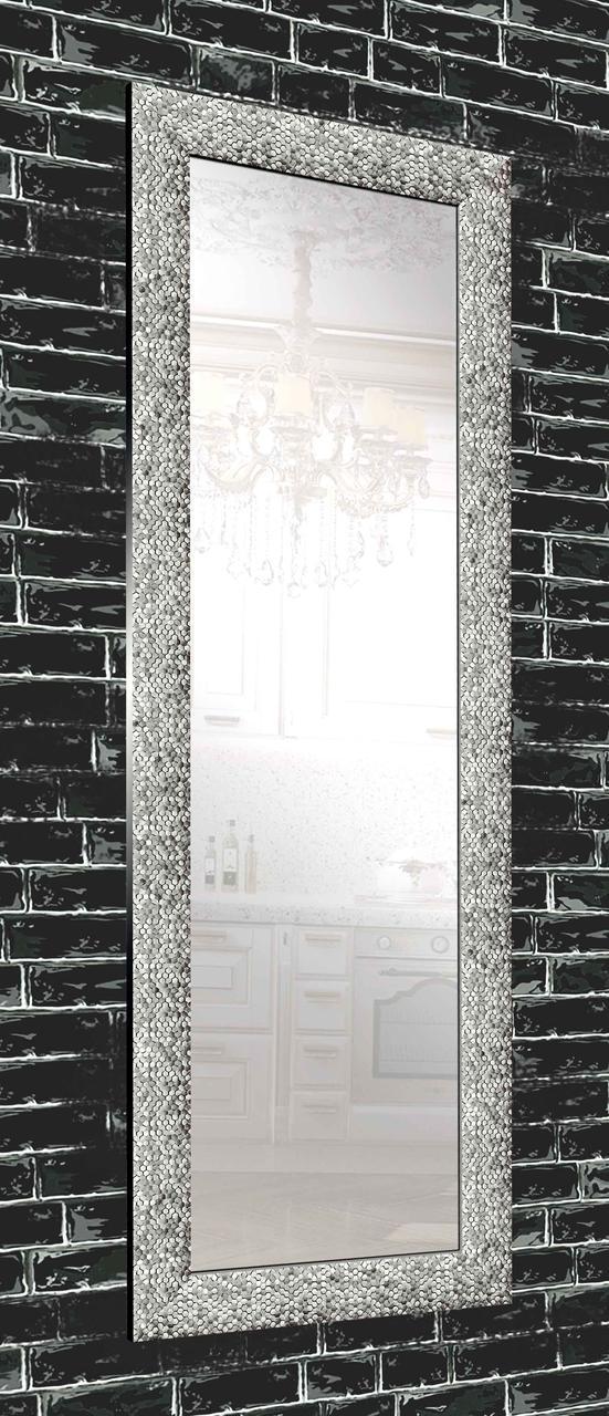 Зеркало настенное в раме Factura Graphite beehive 60х174 см графит