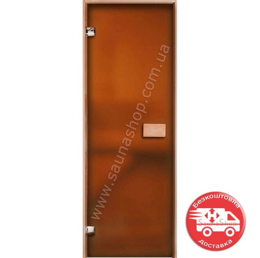 Дверь для бани 630*1750 мм. Матовая Бронза