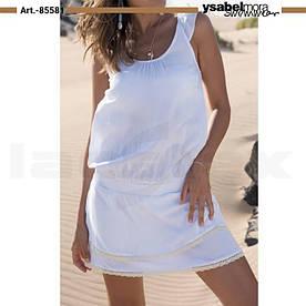 Біла шовкова пляжна сукня Ysabel Mora 85581 S