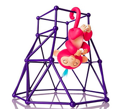 Интерактивная обезьянка с лабиринтом Fingerlings, розовая