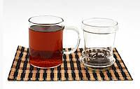 Стеклянная кружка с крышкой для заваривания чая 400 мл