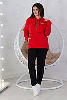 """Трикотажный спортивный женский костюм """"Sha Dee"""" с капюшоном (большие размеры)"""