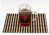 Стеклянная кружка с крышкой для заваривания чая 400 мл, фото 2
