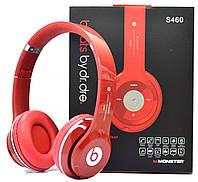 Беспроводные наушники Beats Solo HD S460 Bluetooth RED с MP3 плеером Красные реплика