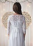 Белое платье для беременных на роспись, фото 4