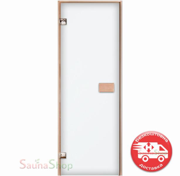 Скляні двері для сауни 800*2000 мм. білий мат