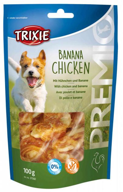 Ласощі для собак та цуценят Trixie PREMIO Banana & Chicken банан/курка 100г