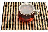 Піала скляна чаша для заварювання з подвійними стінками з кришкою 350 мл, фото 2
