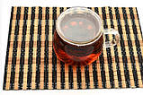 Стеклянная чаша  пиала для заваривания с двойными стенками с крышкой 350 мл, фото 2