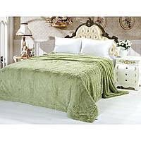 Плед покрывало меховое Травка Мишка Страус Пушистик на кровать размер (евро) подарок на свадьбу ,юбилей
