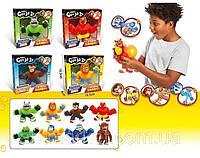 Тянучки игрушки антистресс, Супергерои расстяжки не рвутся, с разным наполнением, много видов