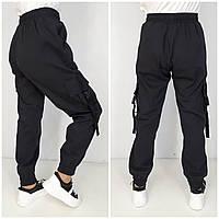 Стильні модні джинсові штани чорні, фото 1