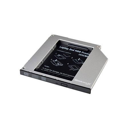 Шахта карман, optibay Grand - X HDD 2,5'' в отсек привода ноутбука, SATA/SATA3 Slim 9,5mm (HDC-24), фото 2