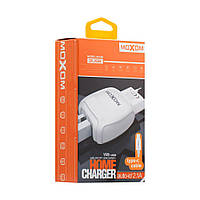 Зарядное устройство Moxom KH-69 (2 USB/2.1A) + кабель Type-C Белый, фото 1