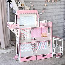"""Кукольный домик для Барби NestWood """"ЛЮКС"""" (терраса+балкон) 5 комнат (114 см), без мебели, фото 2"""