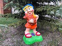 Садово-парковая фигура: Гномиха с собачкой h 57 см, фото 1