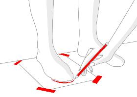Размерная сетка носков, взрослых  и детских.