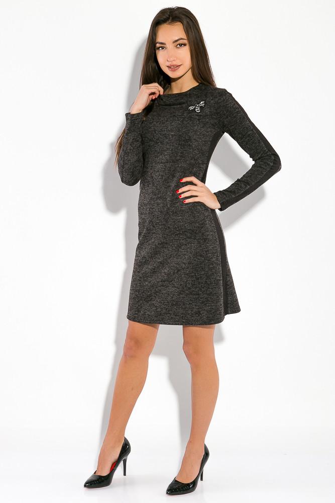 Платье GS  женское в стиле Casual  5500 (Грифельный меланж)