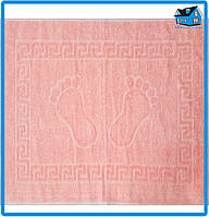 Полотенце махровое для ног розовое (Турция) 50х70