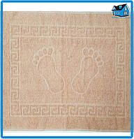 Полотенце махровое для ног бежевое (Турция) 50х70