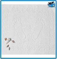 Полотенце махровое для ног белое (Турция) 50х70