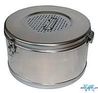 Коробка стерилизационная из нержавеющей стали с фильтром КСКФ, 1, 125 мм, 80 мм