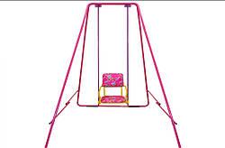 Уличные металлические детские качели «Take&Ride baby swing» Складная в сумке ( 4 цвета) розовый