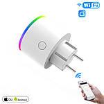 Умная розетка Wi-Fi 16А Wi-smart Plug LED с подсветкой розетка с таймером с голосовым управлением умный дом, фото 4