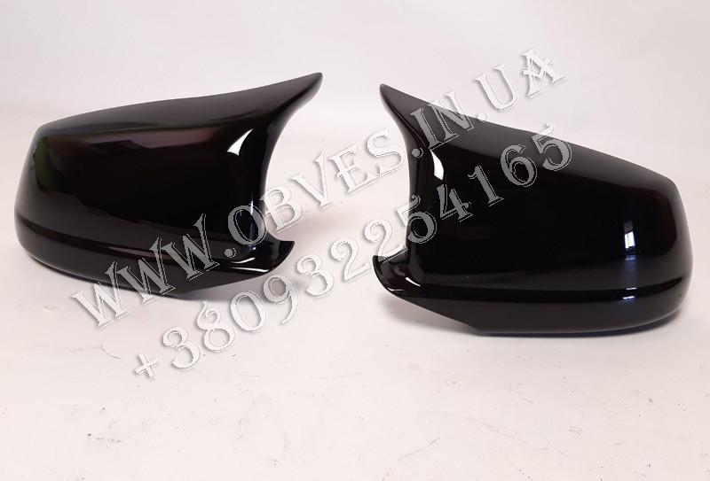 Корпуса зеркал BMW 5-Seria F10 (черный глянец)  2010-2013