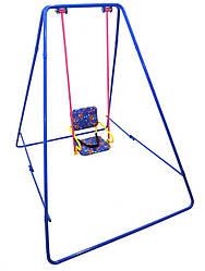 Уличные металлические детские качели «Take&Ride baby swing» Складная в сумке ( 4 цвета) синий