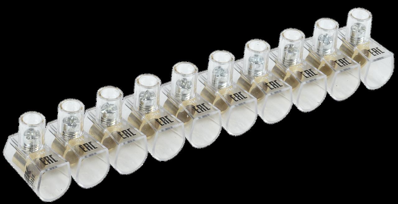 Зажим винтовой концевой изолированный КЗВИ 10мм2 (10x1)IEK