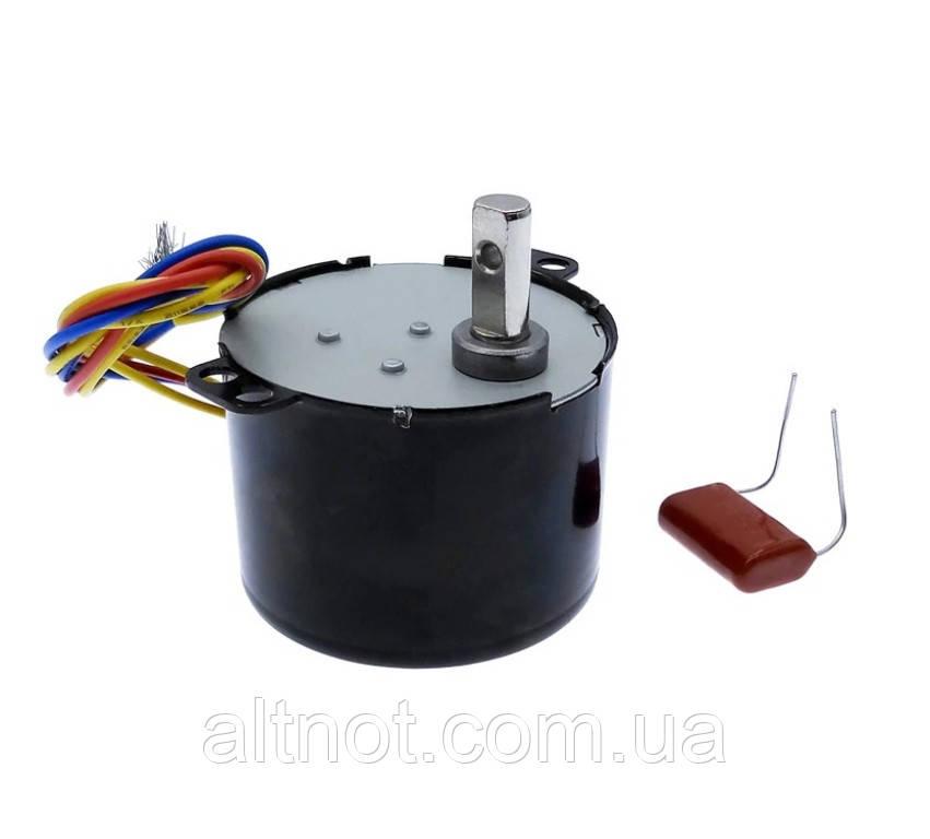 Электромотор 2,5 об/мин. 220В. 6,5 Вт. KTYZ-50 . реверсивный.