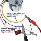 Електродвигун 2,5 об/хв. 220В. 6,5 Вт. KTYZ-50 . реверсивний., фото 10