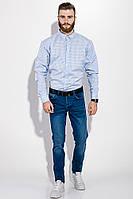 Рубашка GS мужская в клетку 511F007 (Бело-голубой)