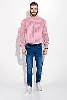 Сорочка чоловіча в смужку 511F008 (Біло-червоний)