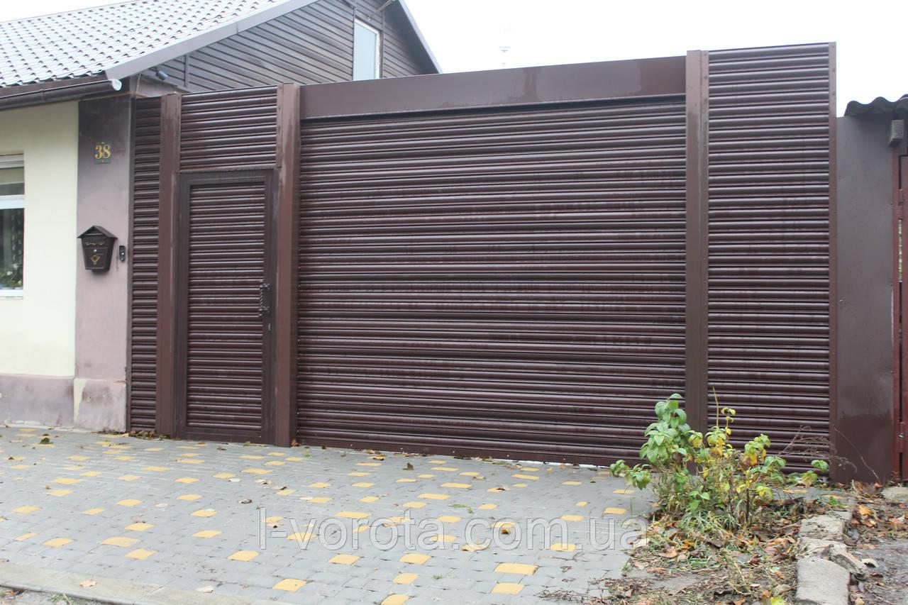 Ворота рулонные вьездные (стальной профиль 76) ТМ HARDWICK (Хардвик) 2500*2500