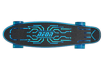 Скейтборд NEON Скейт Hype синий New [N100787]