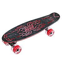 Скейтборд NEON Скейт Hype красный NEW [N100788]