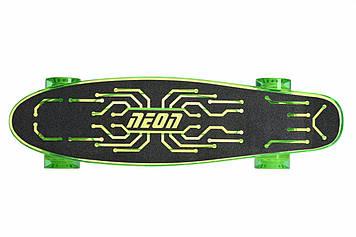 Скейтборд NEON Скейт Hype Plus+ зеленый [N100789]