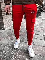 Мужские спортивные штаны Nike M042 красные