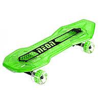 Скейтборд NEON Скейт Cruzer MAX салатовый [N100792]