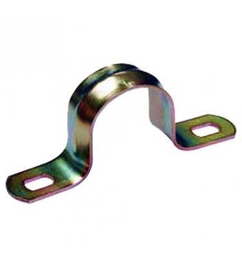 Скоба металева двухлапковая IEK Ø21-22мм