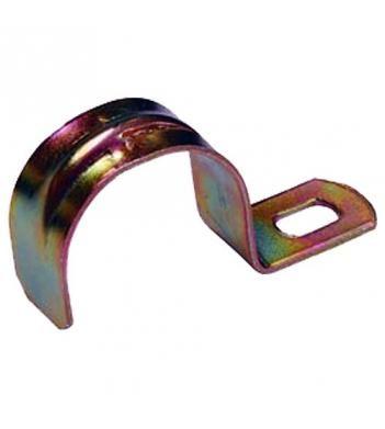 Скоба металлическая однолапковая IEK Ø21-22мм