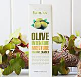 Очищаюча і зволожуюча піна з екстрактом оливи FARM STAY Olive Moisture Intensive Foam Cleanser, фото 2