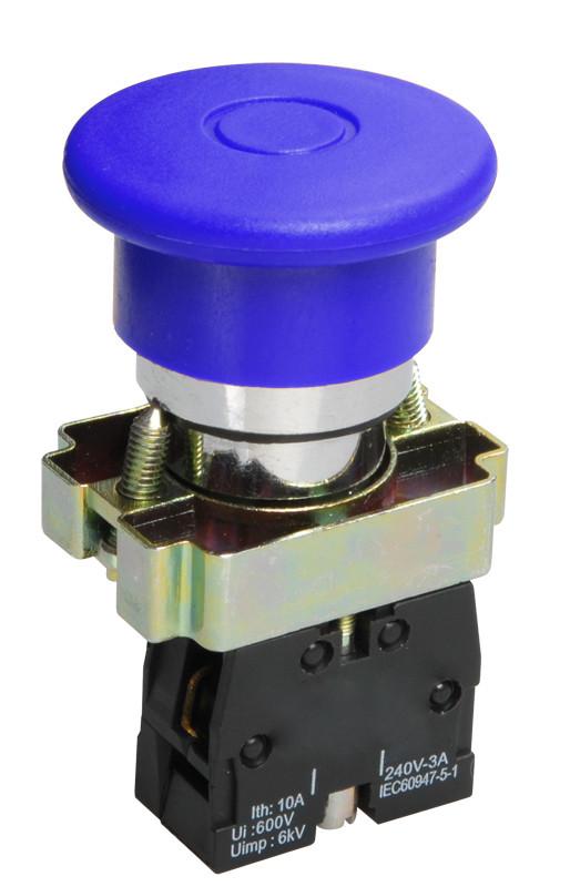 Кнопка LAY5-BC61 «Грибок» синяя 1з IEK
