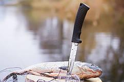 Нож складной с прорезиненной ручкой