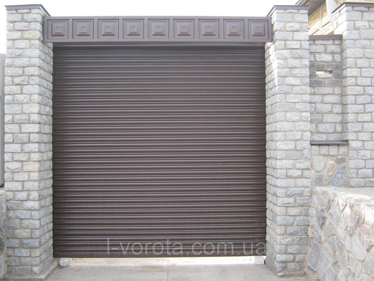 Ворота вьездные рулонные  (стальной профиль 76) ТМ HARDWICK (Хардвик) 2300 на 2600
