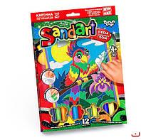 Картинка з піску Sandart Папуга, DankoToys (10)