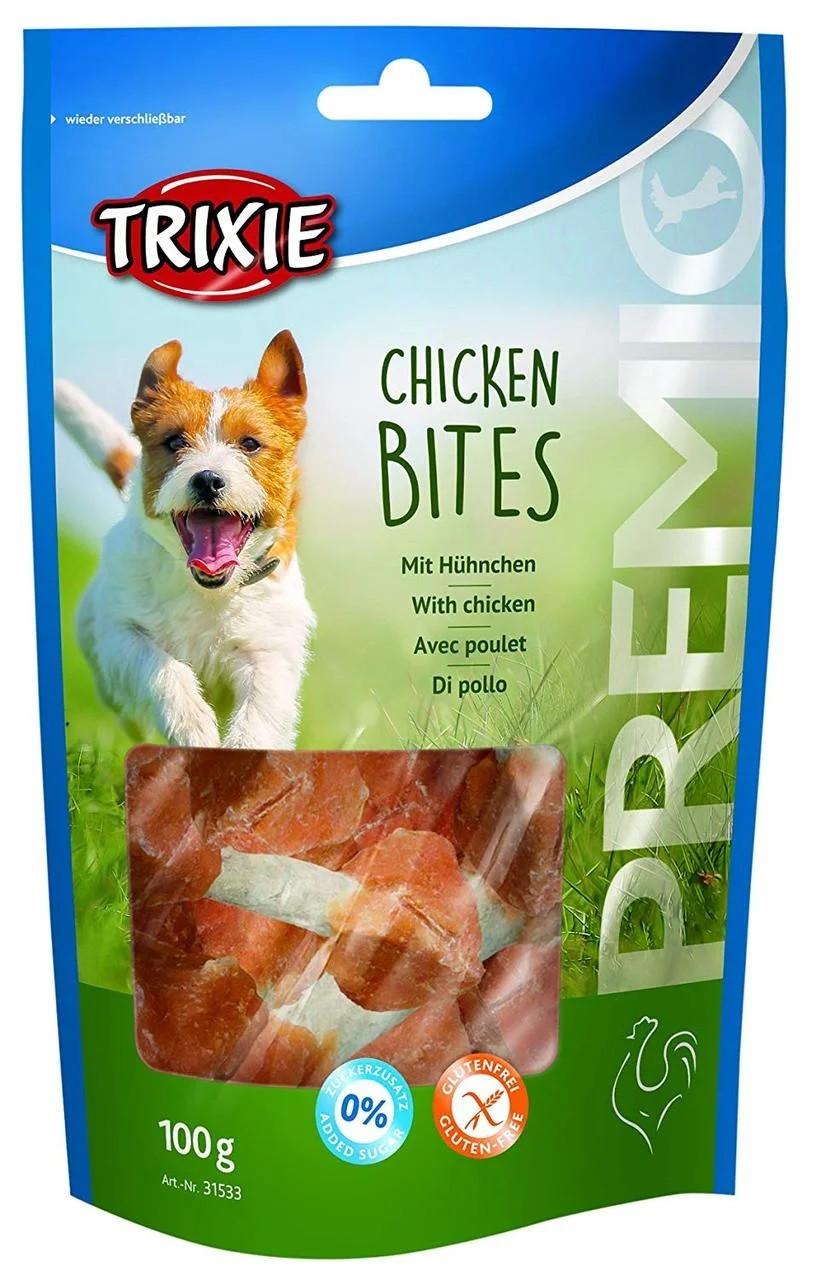 Лакомство для собак и щенков Trixie PREMIO Chicken Bites курица/ гантели 100г.