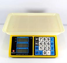 Електронні торгові ваги Domotec ACS 40кг/5г MS 266 з лічильником ціни
